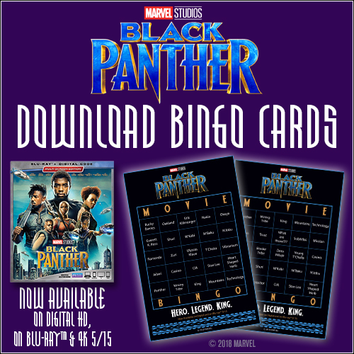Black Panther Bingo Card