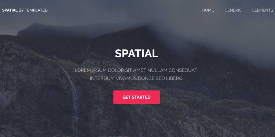 Spatial – Free Responsive Multipurpose HTML Tempalte