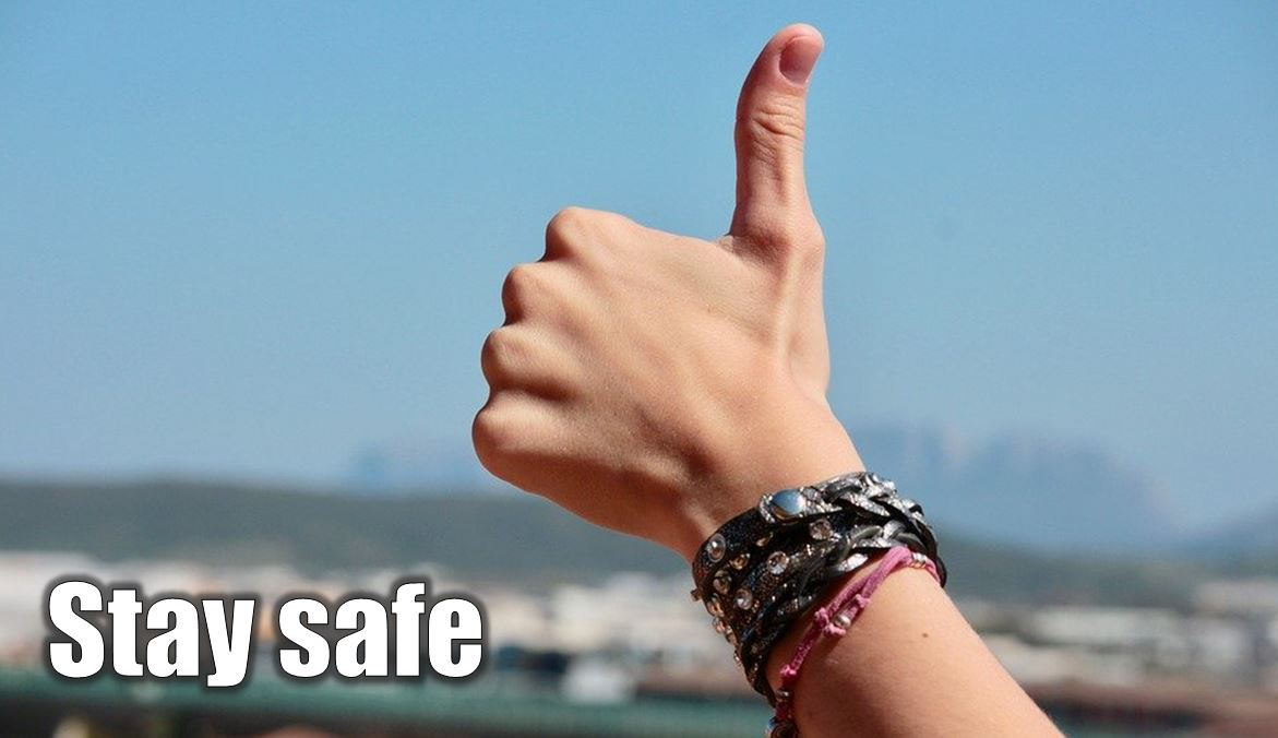 Stay safe thumbs up