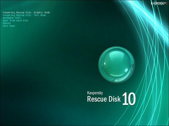 graficzny tryb pracy systemu ratunkowego antywirusowego