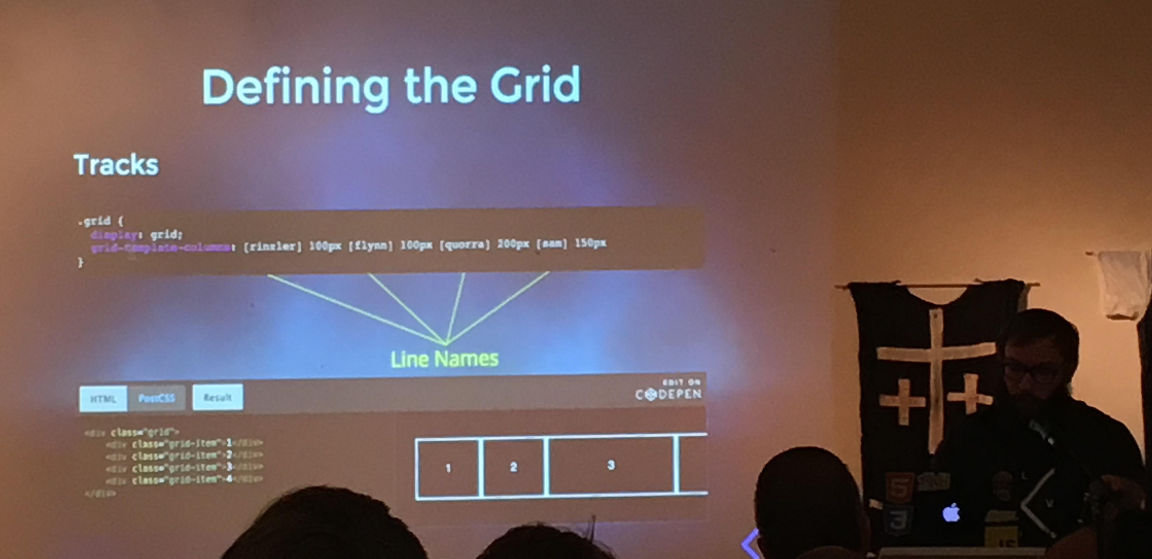 Name grid lines