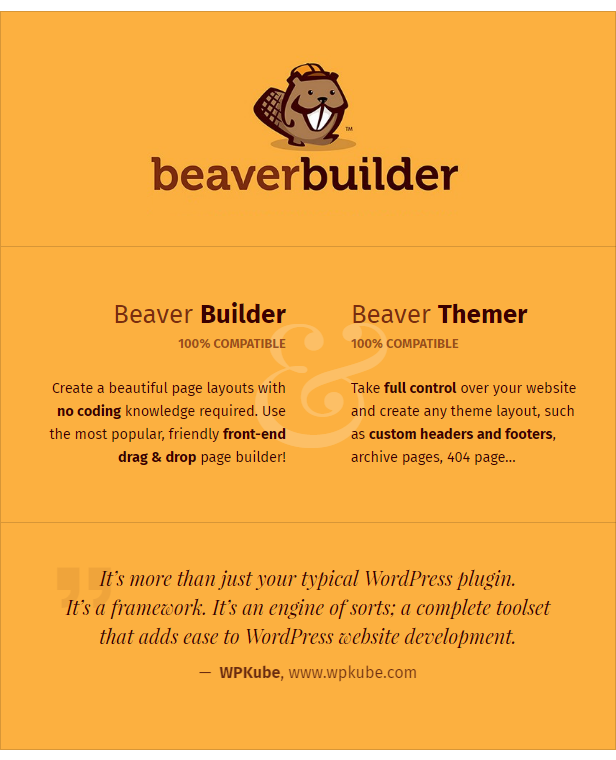 Beaver Builder and Beaver Themer compatible theme