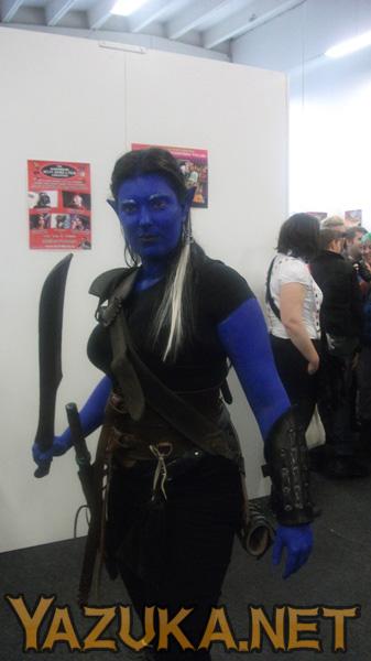 Nice blue elf. Rawr.