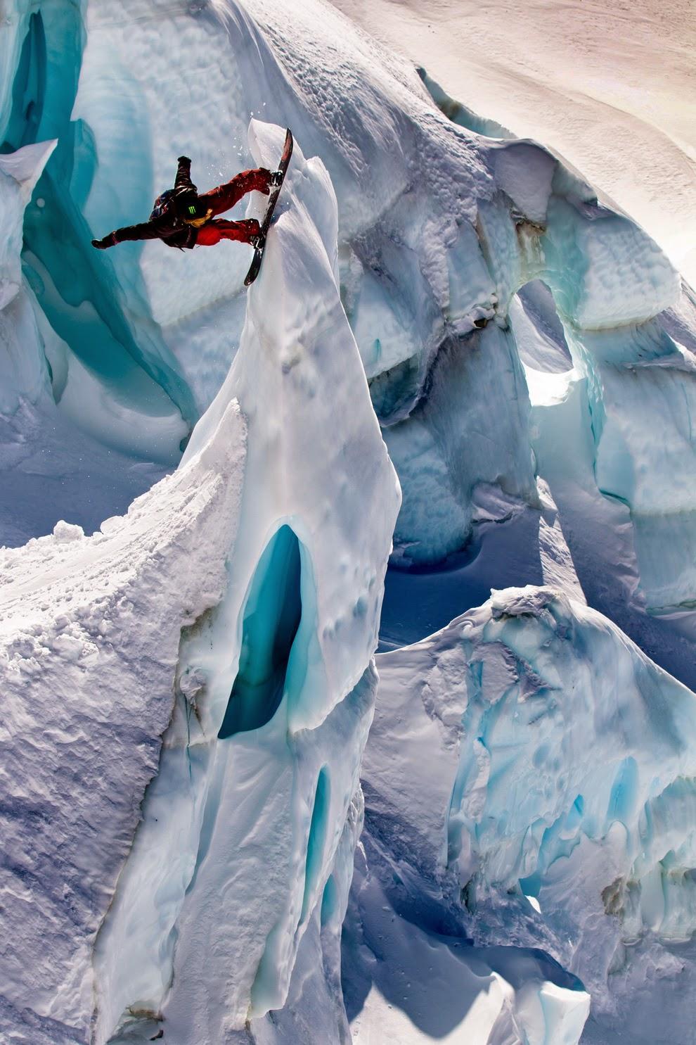 glacier boarding