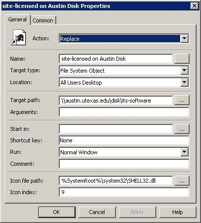 Group Policy Preferences: Shortcuts Example