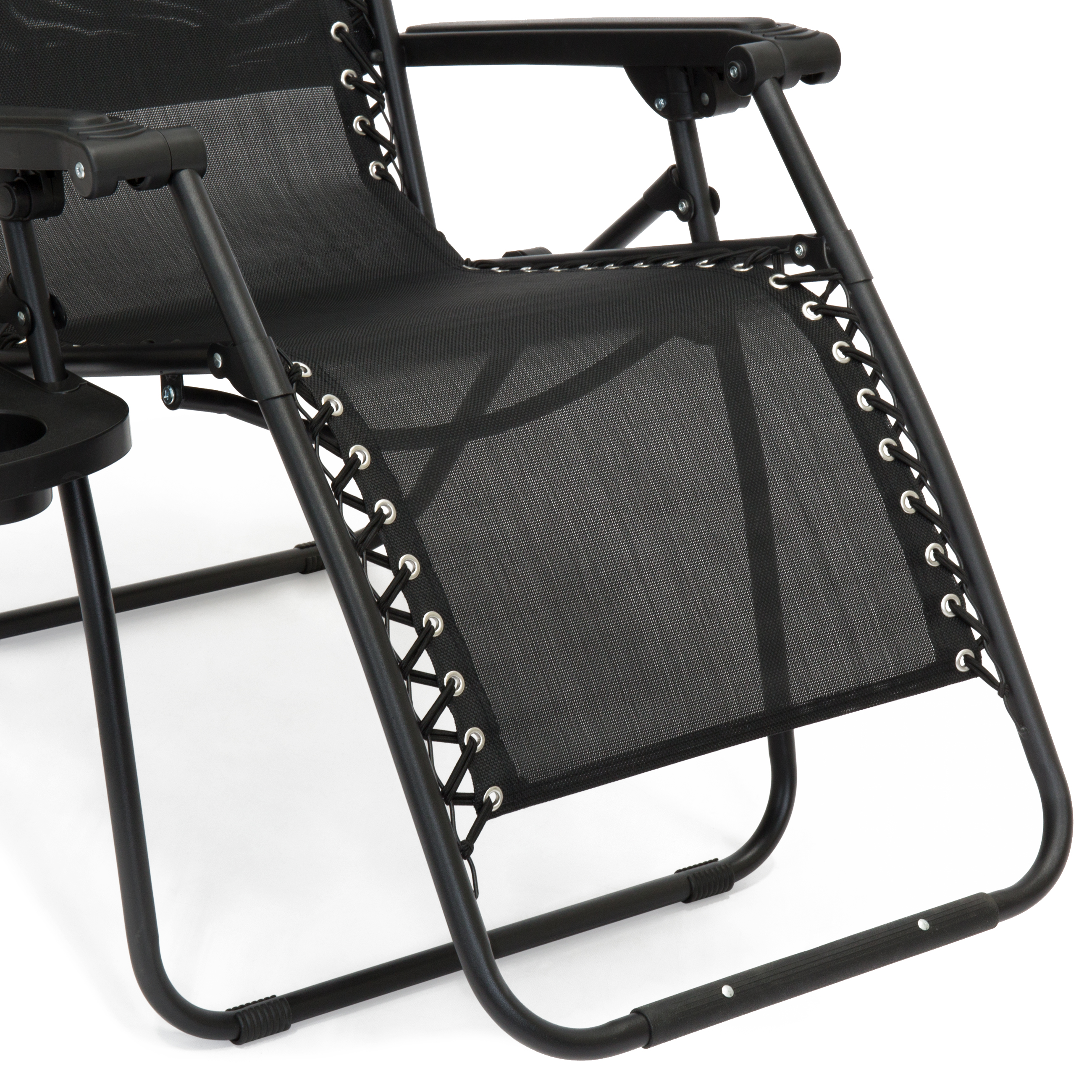 Folding Zero Gravity Recliner Lounge Chair W Shade Amp Cup