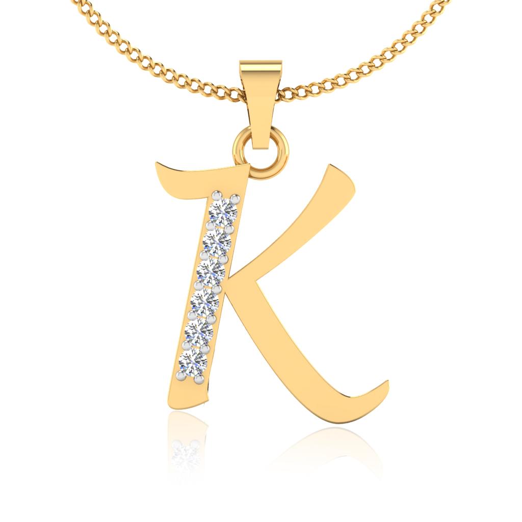 The Classy K Diamond Pendant