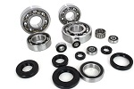 Bottom End Engine Bearings and Seals Kit Kawasaki KX250 1987