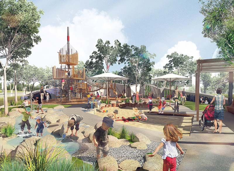 Aspect Studio's nautically-inspired playground for Elizabeth Quay