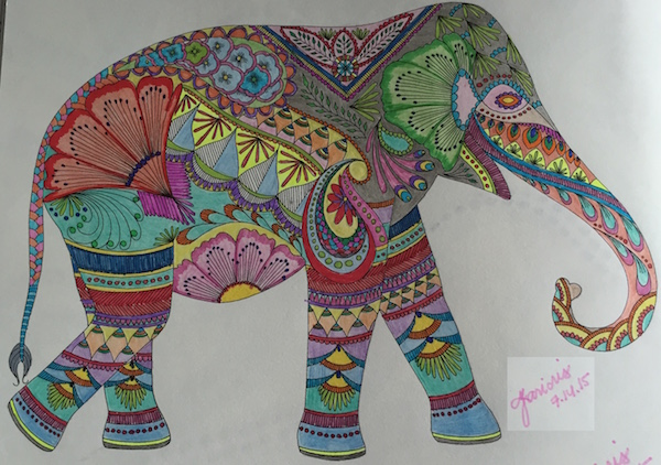 My colorful lucky elephant