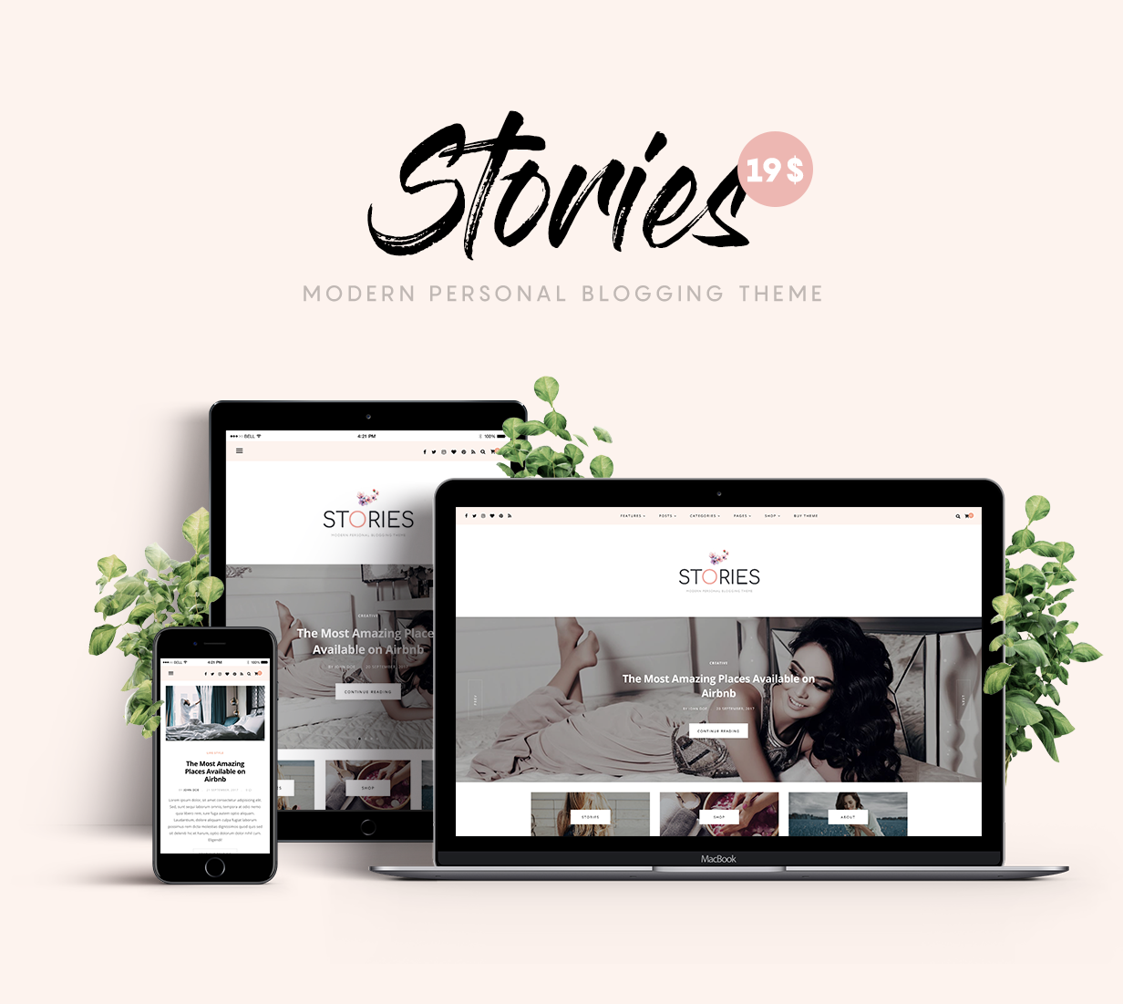 Stories - A Modern Personal Blogging HTML5 Template - 1