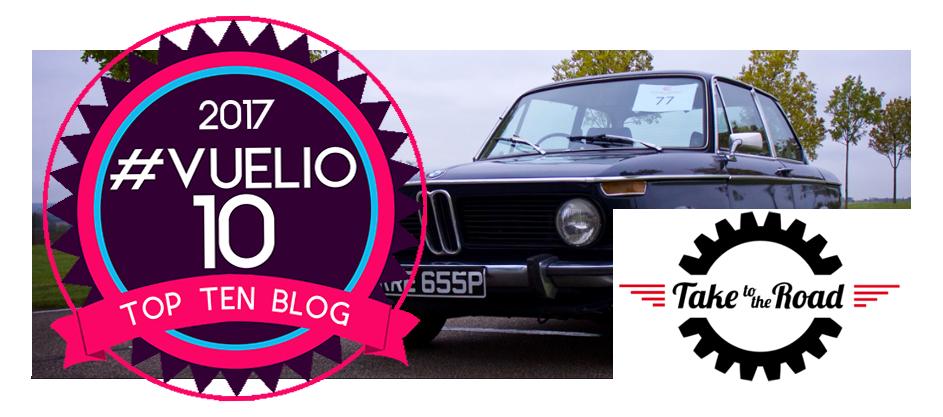 Take to the Road award Top Ten UK Automotive Blog status