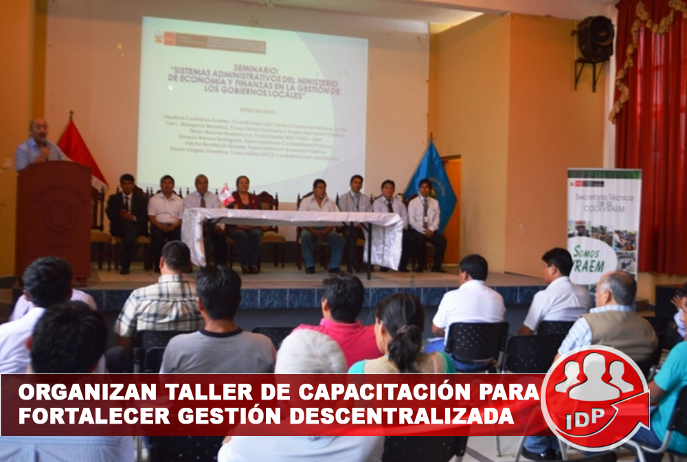 Organizan taller de capacitación para fortalecer gestión descentralizada