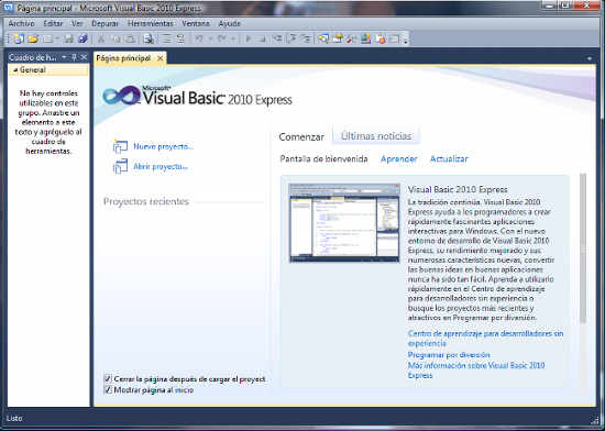 instalacion visual basic
