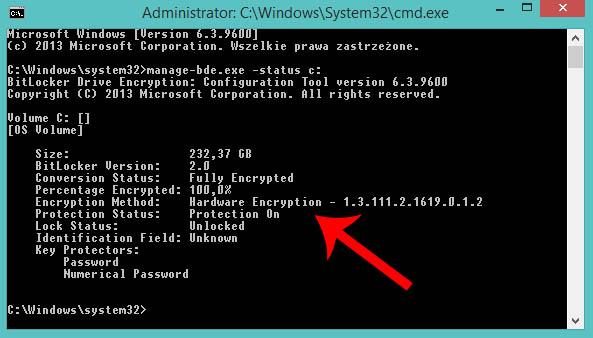 Hardware Encryption Samsung Evo 840/850/pro szyfrowanie sprzętowe Bitlocker włączone