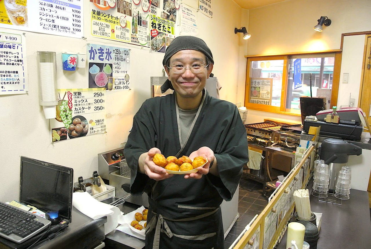 笑顔店主の田上さん