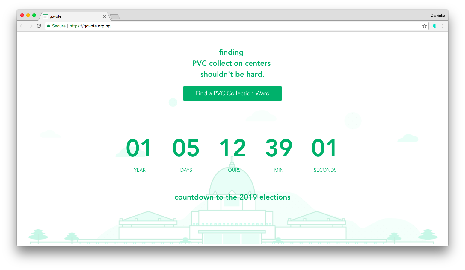 GoVote Landing Page
