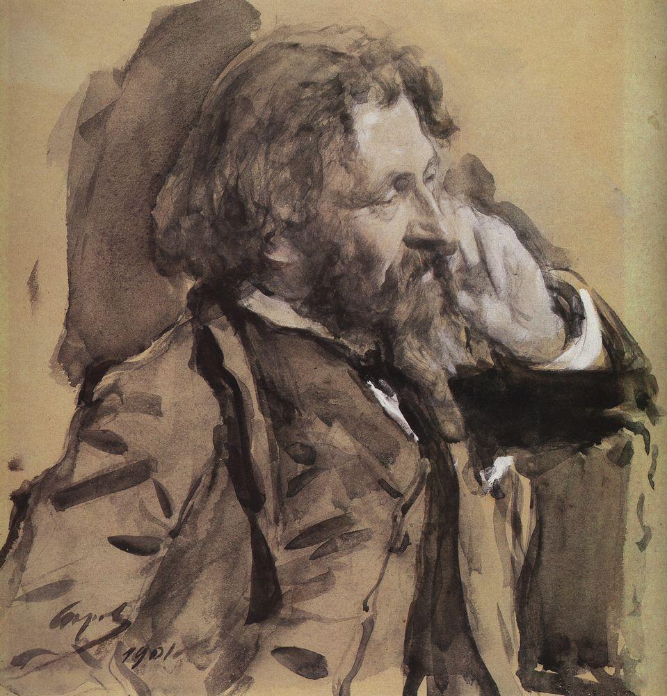 Serov, Retrato de Ilya Repin
