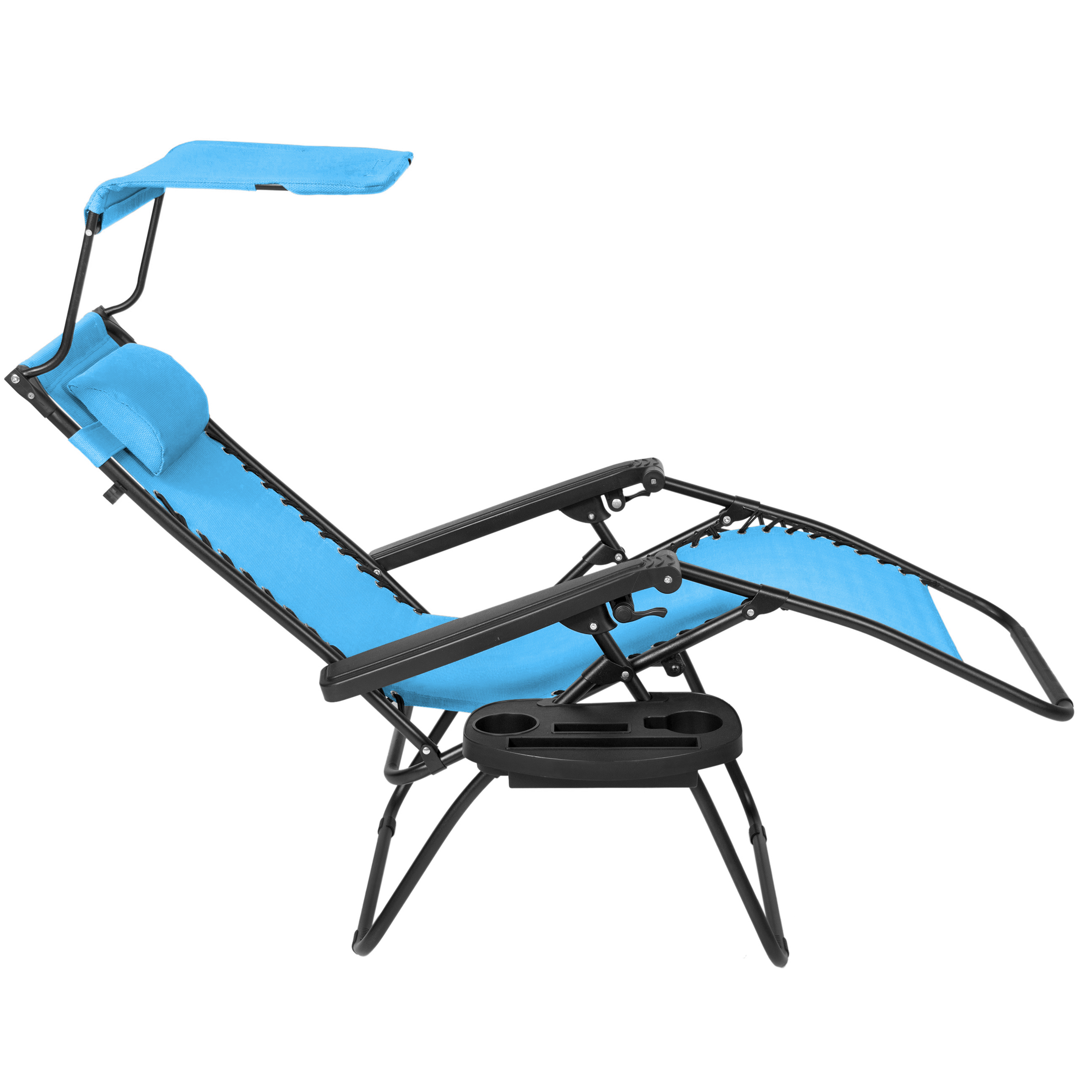BCP-Folding-Zero-Gravity-Recliner-Lounge-Chair-w-Canopy-Cup-Holder thumbnail 45
