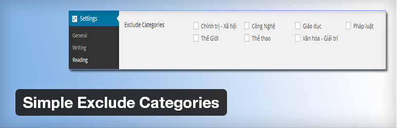 Simple Exclude Categories - Ẩn category ngoài trang chủ