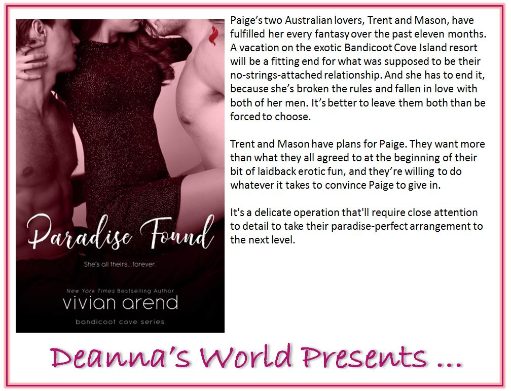 Paradise Found by Vivian Arend blurb