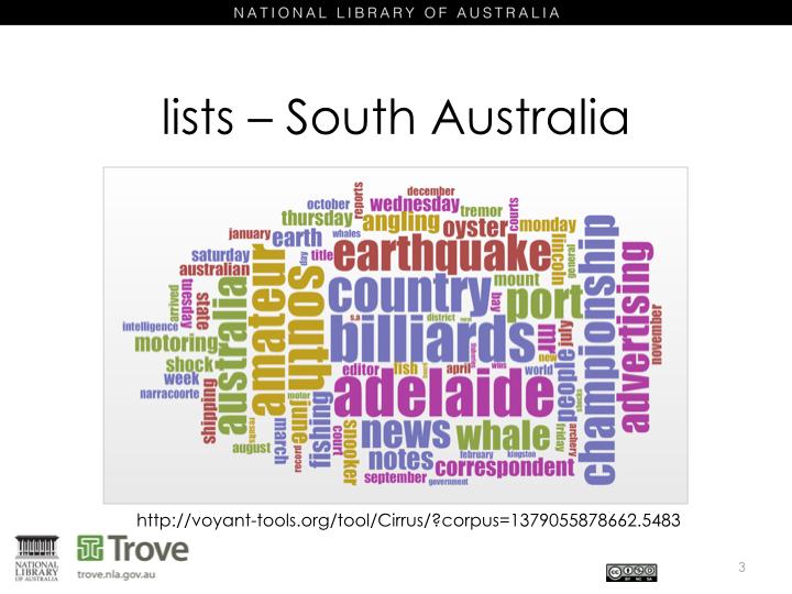 Lists - South Australia