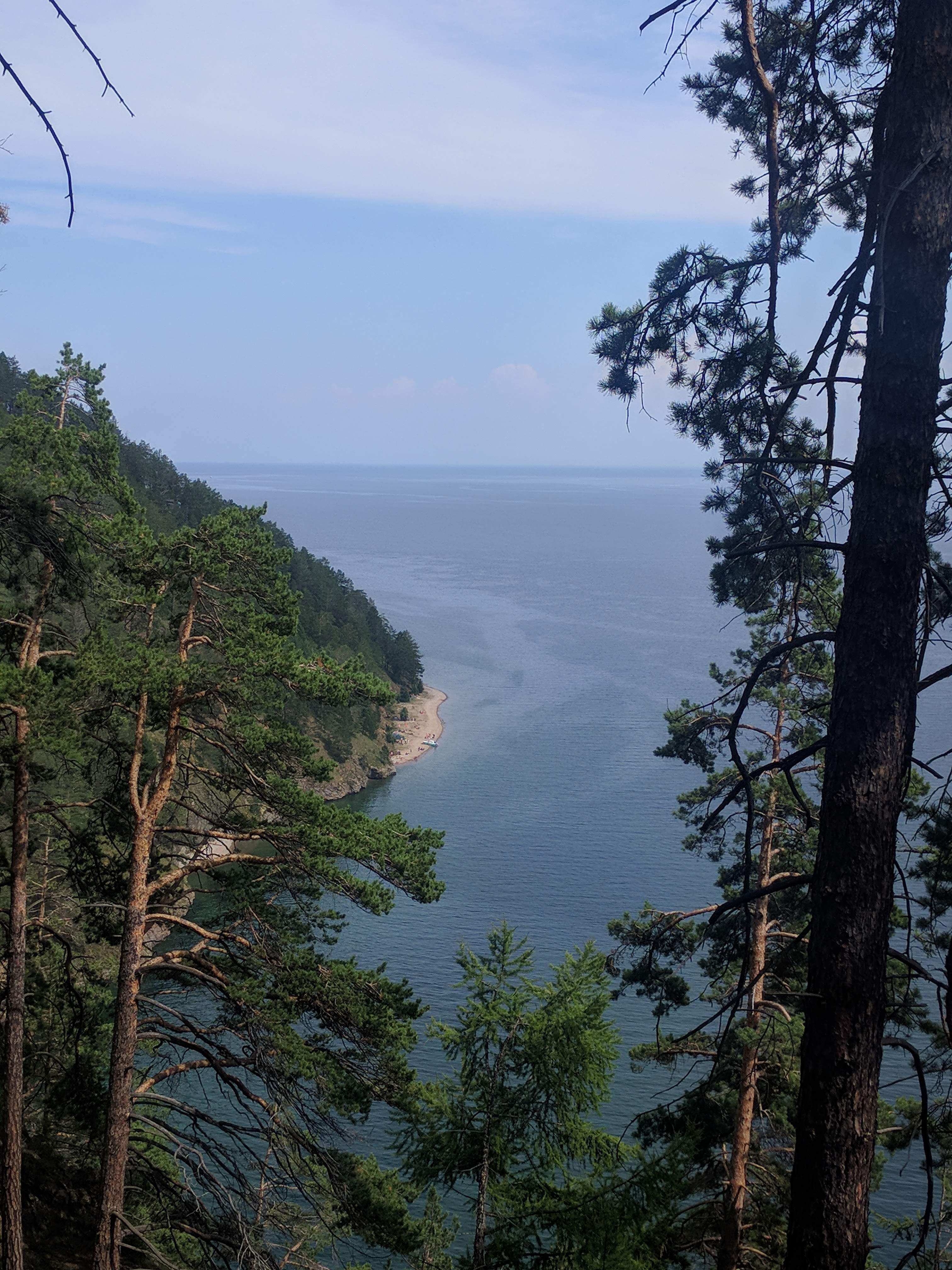 Standaard zicht op het reusachtige meer!