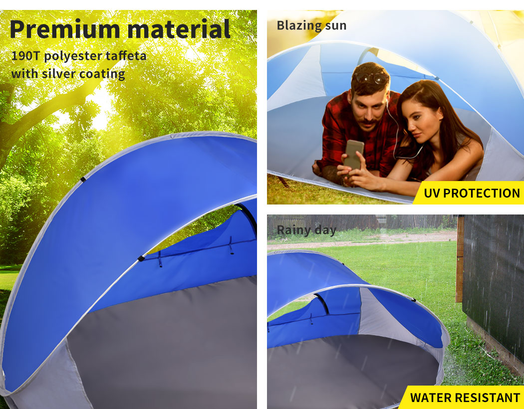 Mountvie-Pop-Up-Tent-Camping-Beach-Tents-4-Person-Portable-Hiking-Shade-Shelter thumbnail 16
