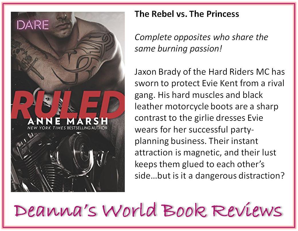 Ruled by Anne Marsh blurb