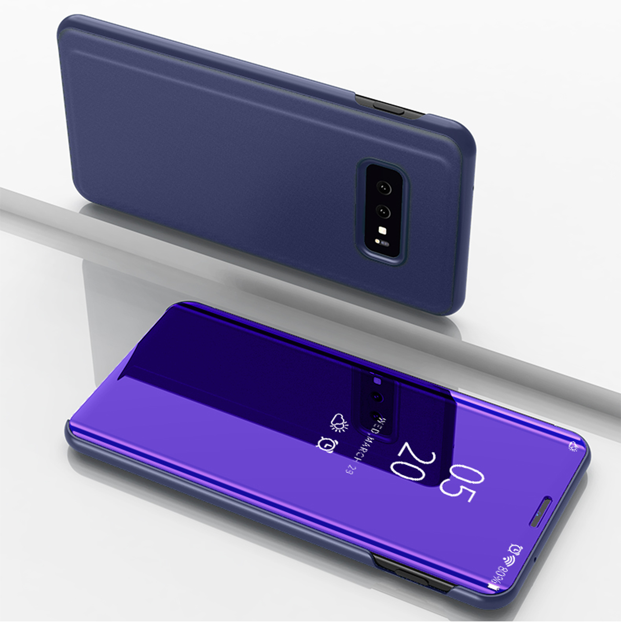 thumbnail 72 - For-Samsung-Galaxy-S9-S10-Plus-Smart-View-Mirror-Leather-Flip-Stand-Case-Cover
