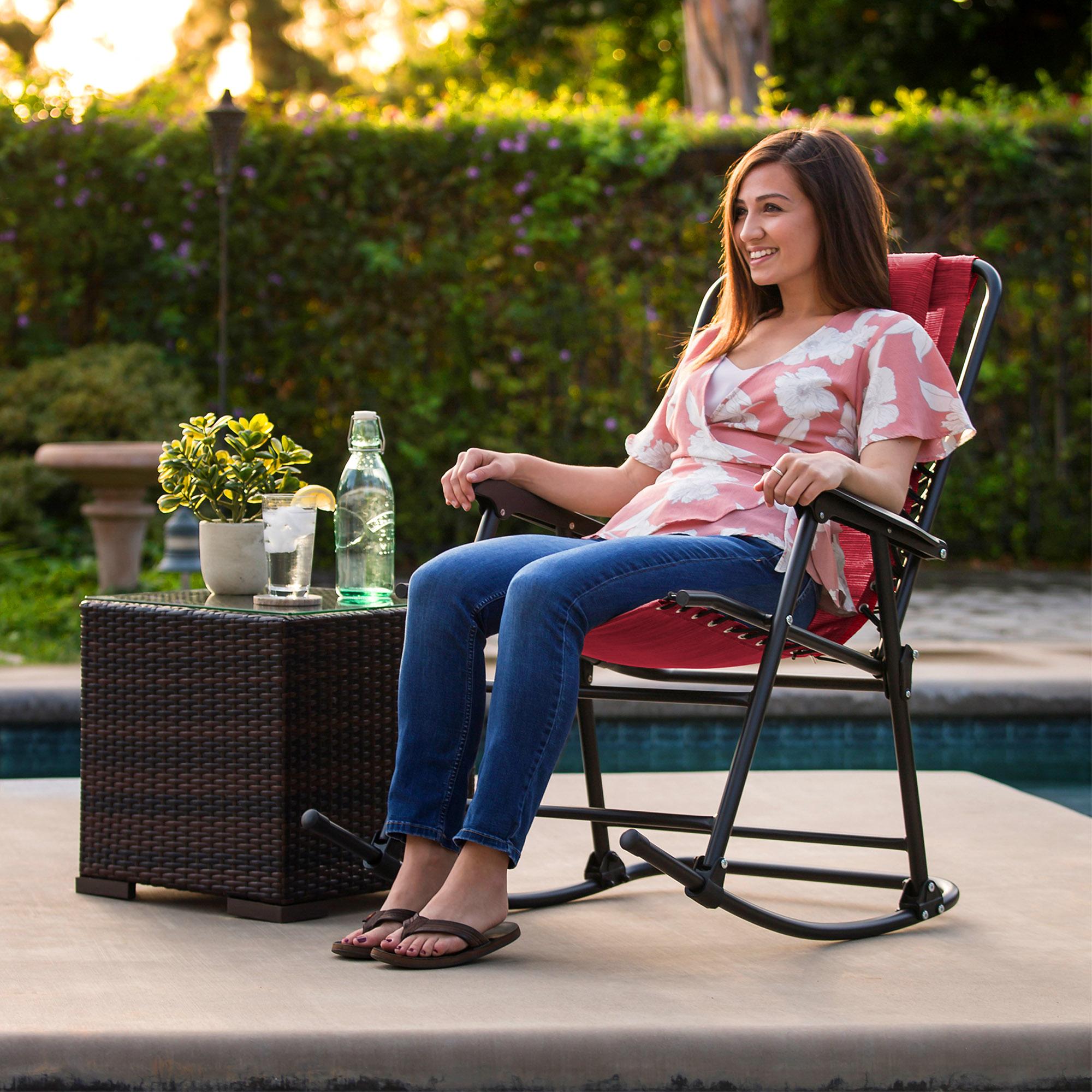 BCP-Foldable-Zero-Gravity-Patio-Rocking-Lounge-Chair thumbnail 51
