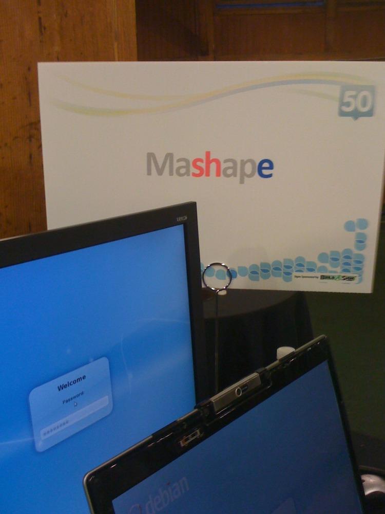 Closeup of Mashape booth at TC50