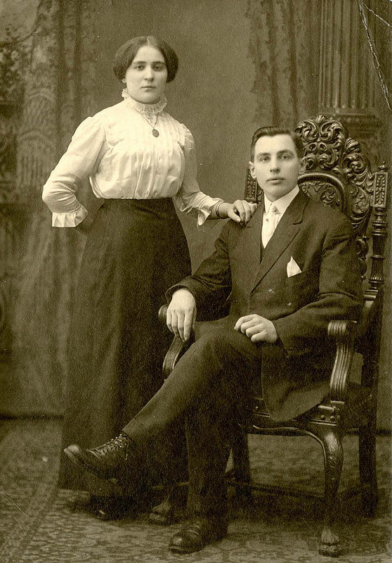 Old fashioned couple