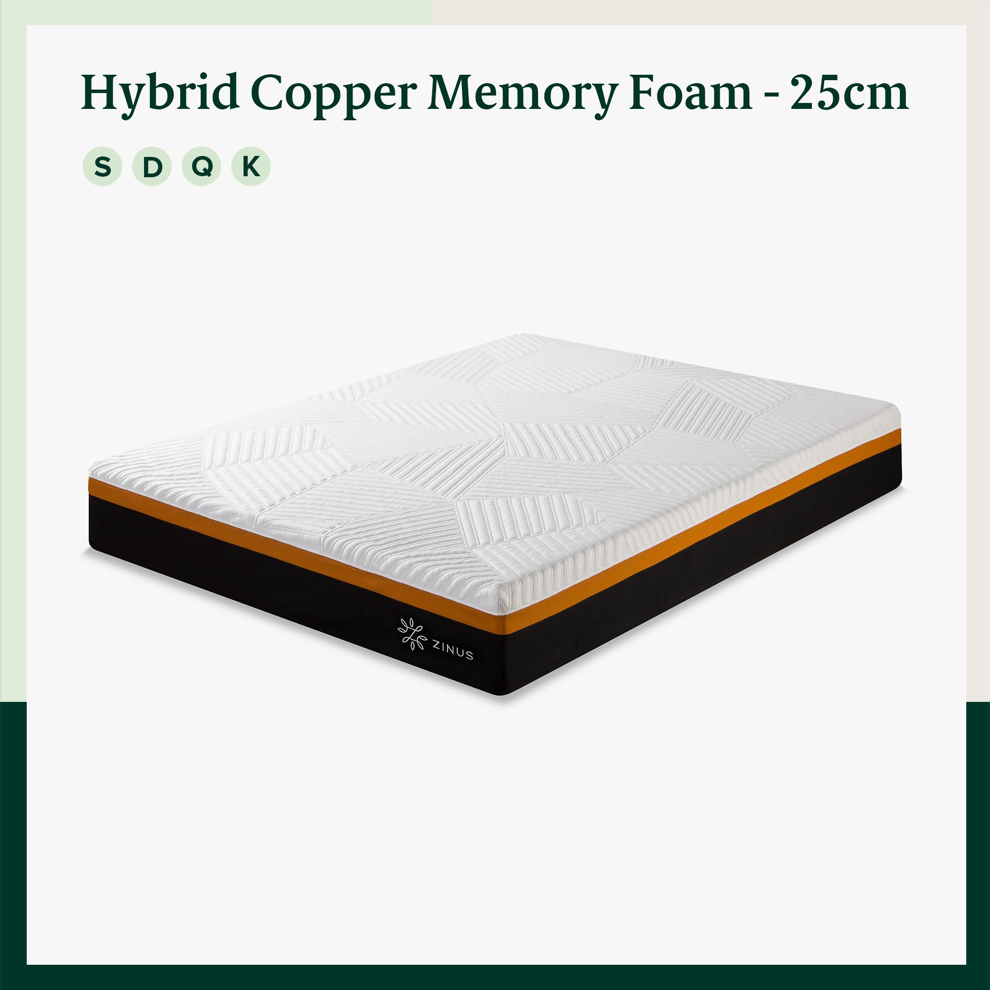 thumbnail 87 - Zinus Mattress Queen Double King Single Bed Memory Foam Pocket Spring Hybrid