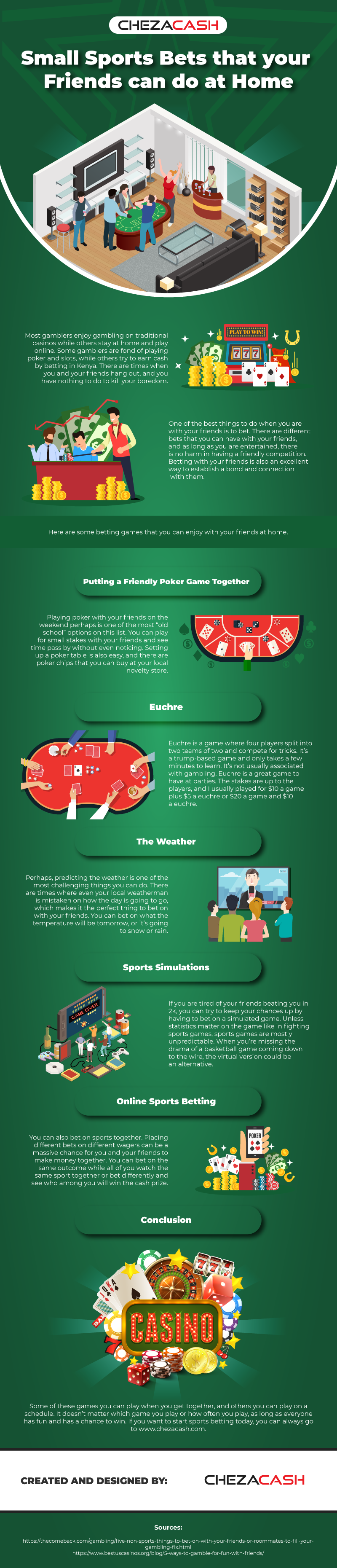 Small sports bets that your friends can do at home [Infographics]