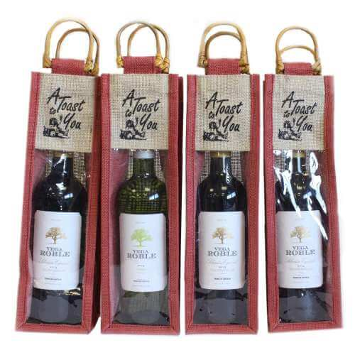 wine gift bags - a toast