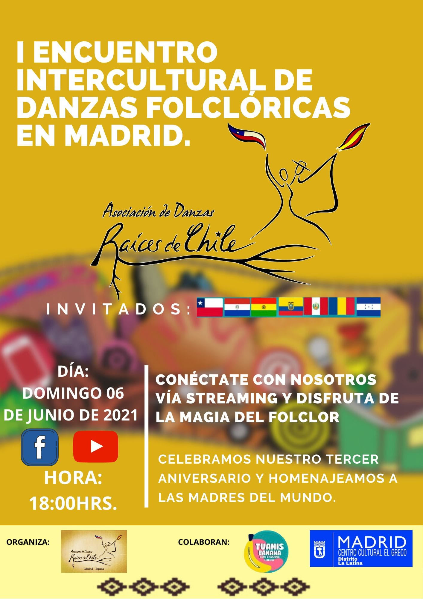 I Encuentro Intercultural de danzas folklóricas en Madrid