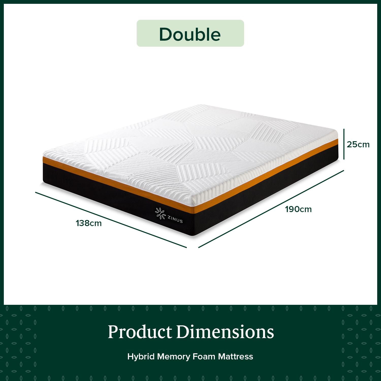 thumbnail 89 - Zinus Mattress Queen Double King Single Bed Memory Foam Pocket Spring Hybrid