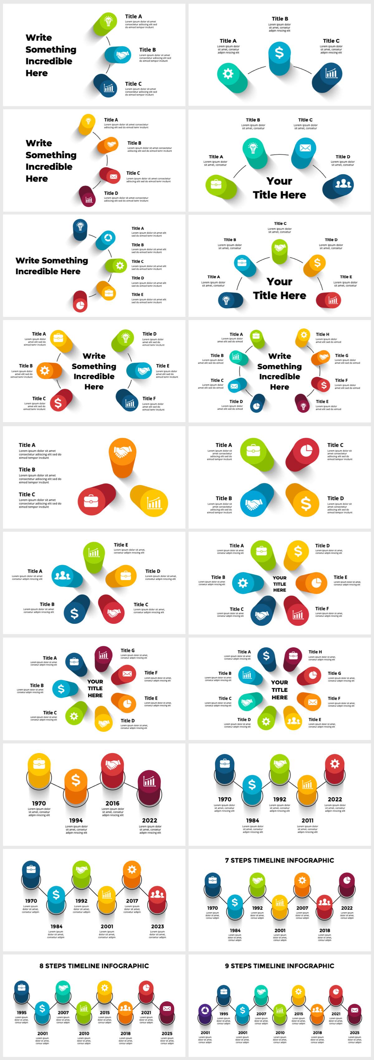 Huge Infographics Bundle! Lifetime Updates! PowerPoint, Photoshop, Illustrator. - 72