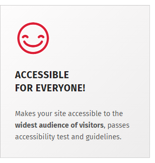 Accessibility ready WordPress theme