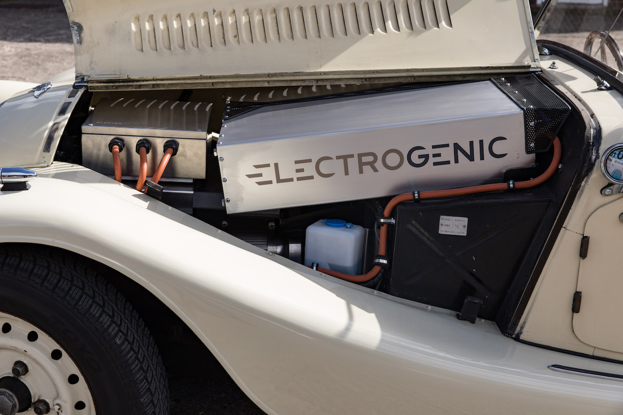 Electrogenic unveils world first EV Triumph Stag and Morgan 4/4