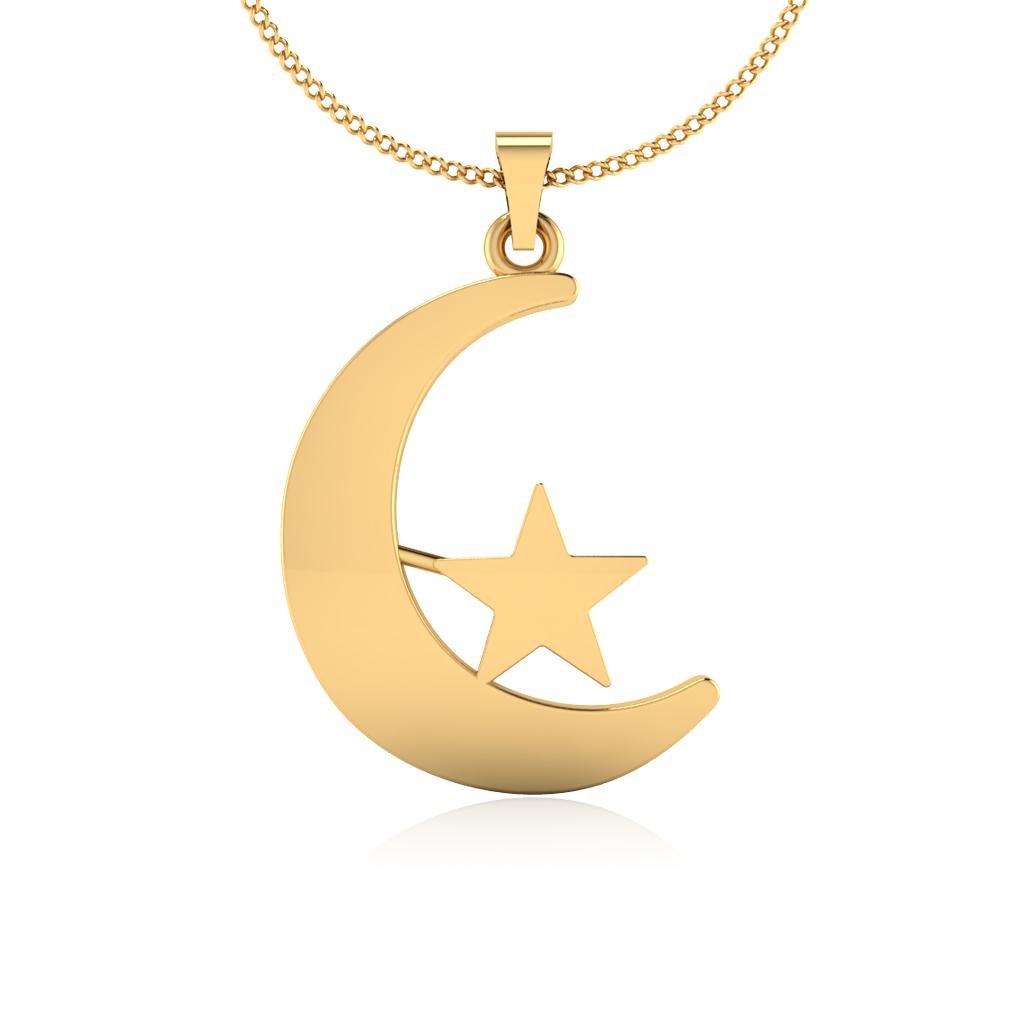The Moony Star Gold Pendant