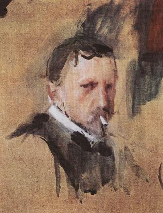Serov, Autorretrato 1901