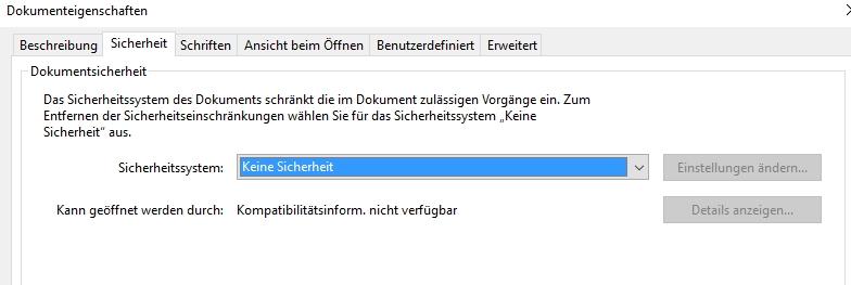 Auch in Adobe Acrobat lassen sich Dateien mit einem Passwort ergänzen.