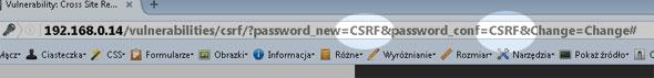 Atak XSRF / CSRF w parametrach GET skryptu DVWA