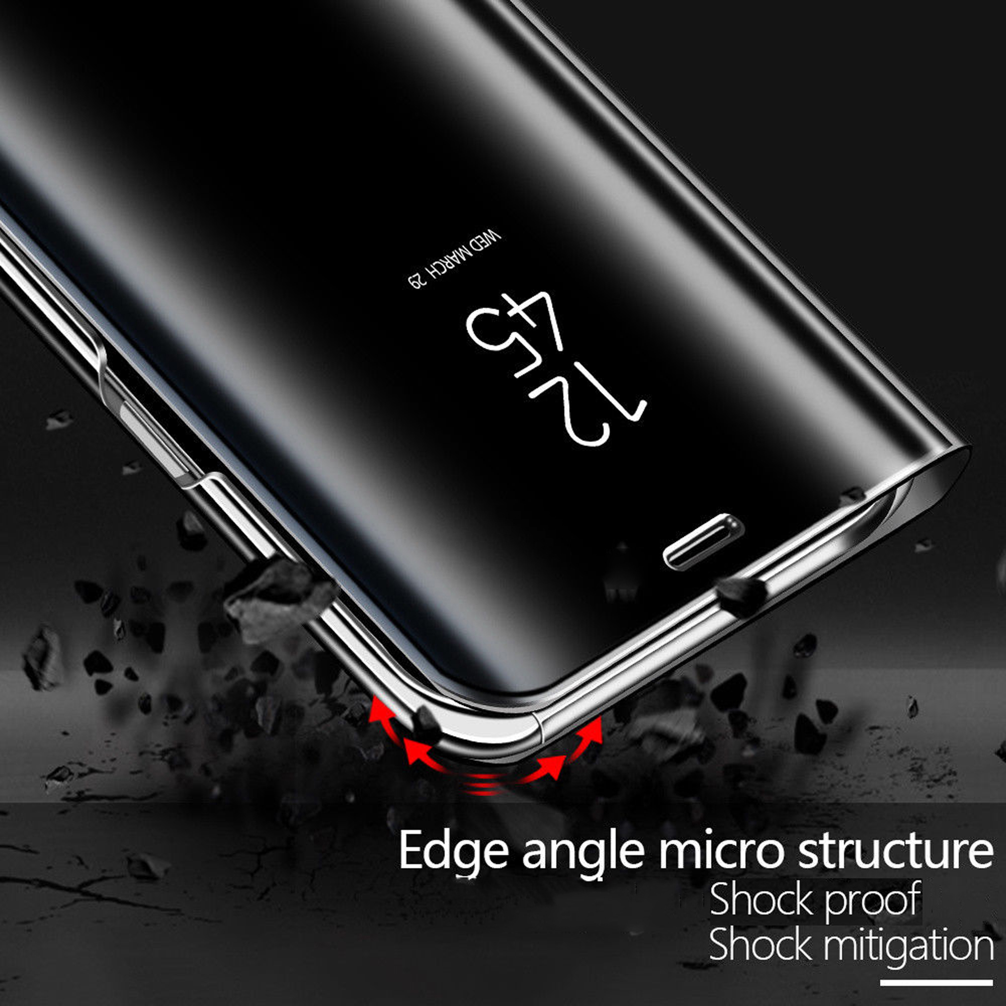 thumbnail 19 - For-Samsung-Galaxy-S9-S10-Plus-Smart-View-Mirror-Leather-Flip-Stand-Case-Cover