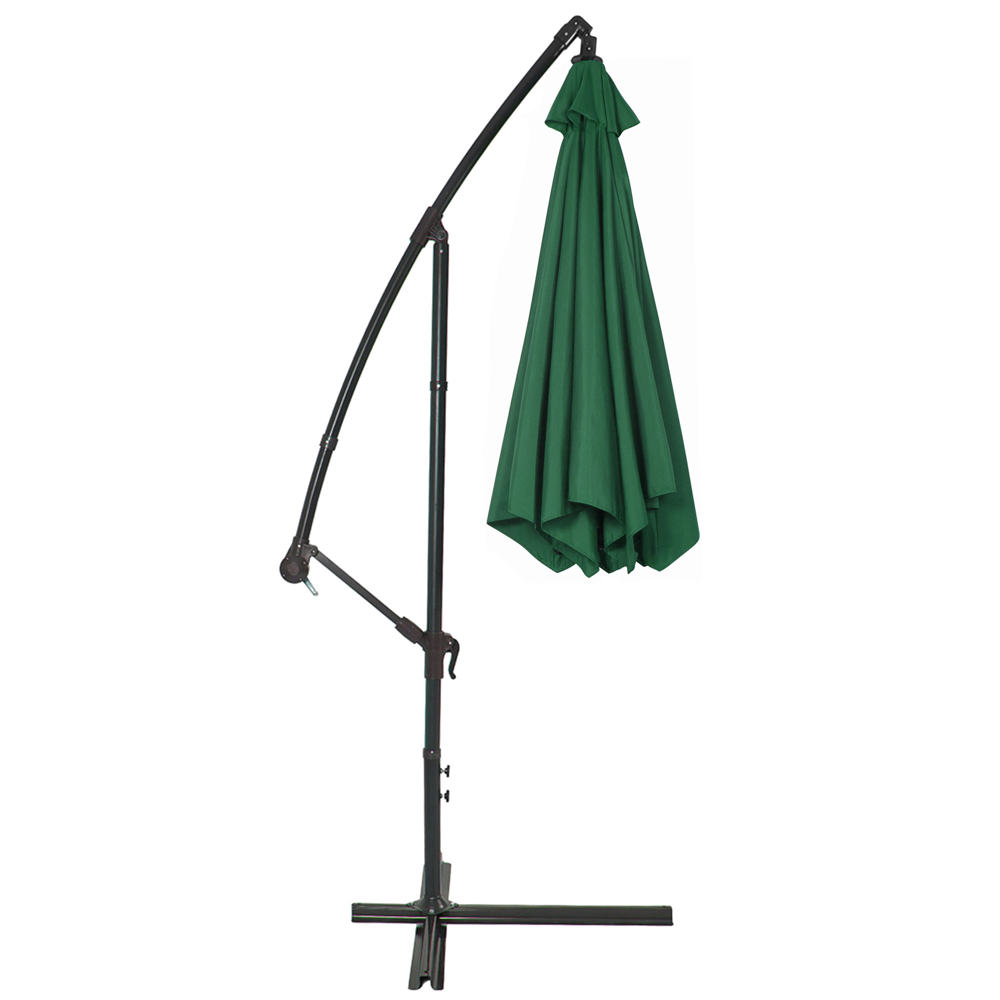 BCP-10ft-Offset-Hanging-Market-Patio-Umbrella-w-Tilt-Adjustment-Hand-Crank thumbnail 33