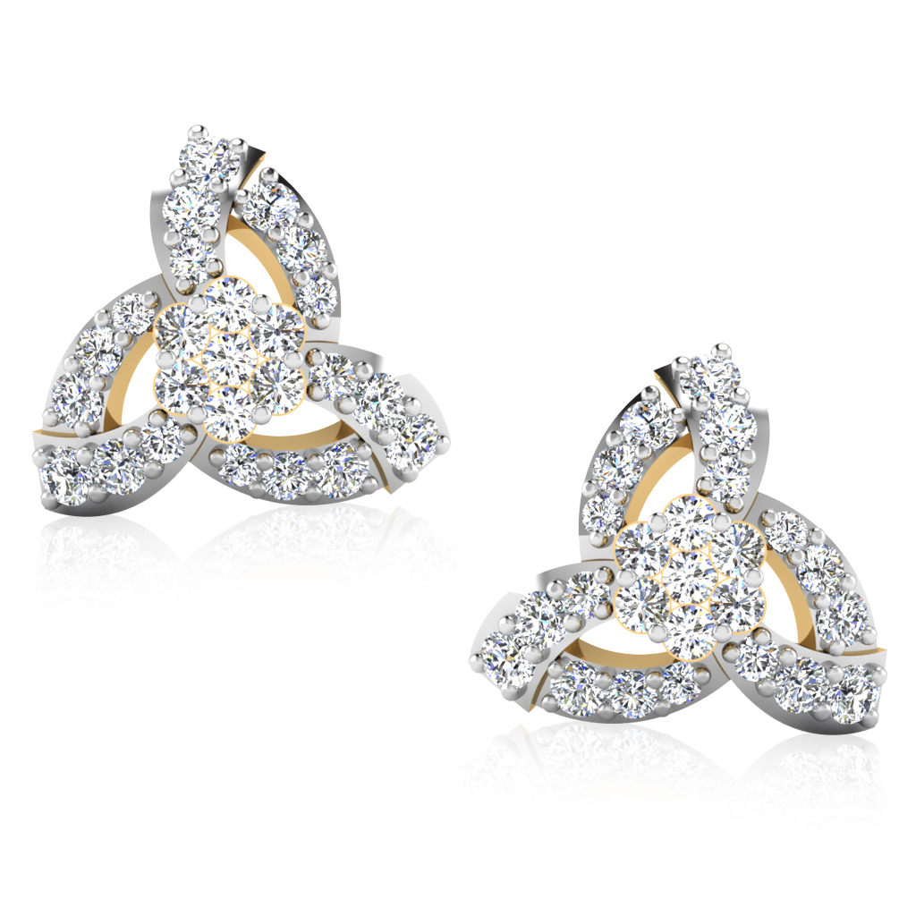 The Dhara Diamond Stud Earrings