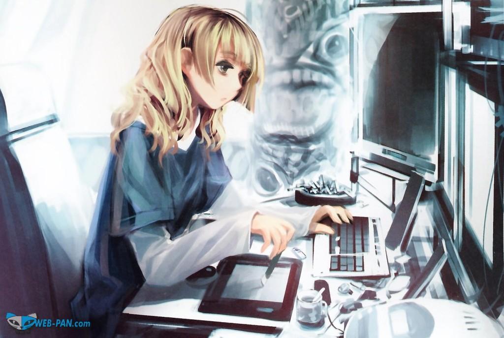 Копирайтер за работой, не мешайте творчеству девушек, авось что-то и получится...