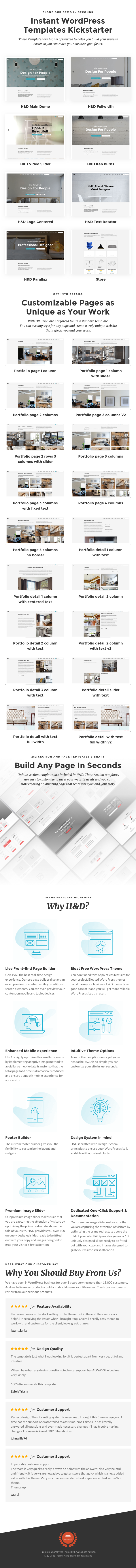 H&D 2.0 - Interior Design WordPress Theme - 1